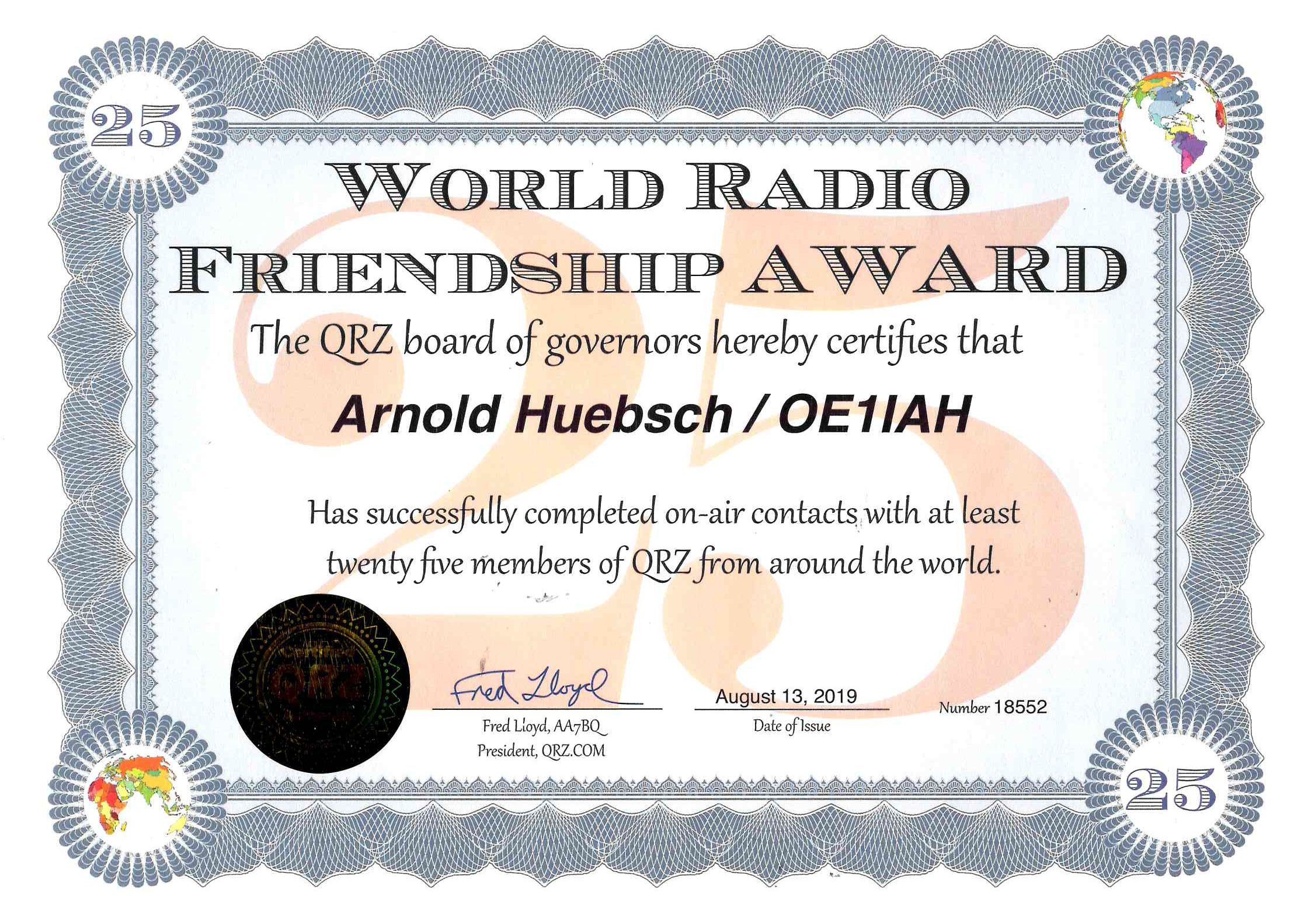 World Friendship Award